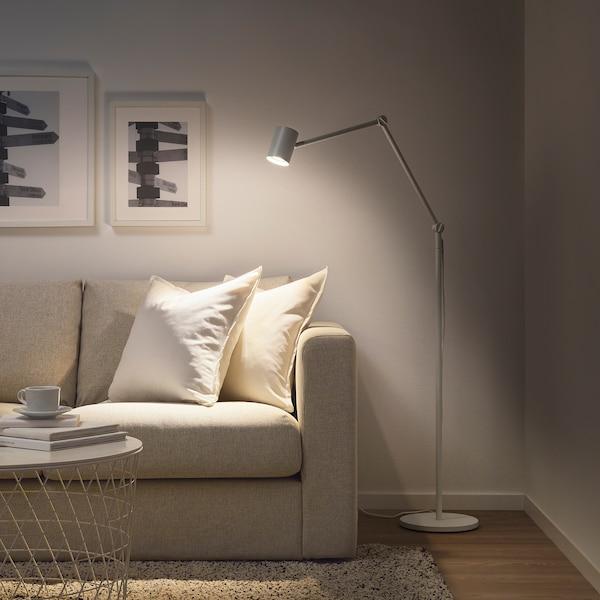 NYMÅNE Lampu lantai/bacaan, putih
