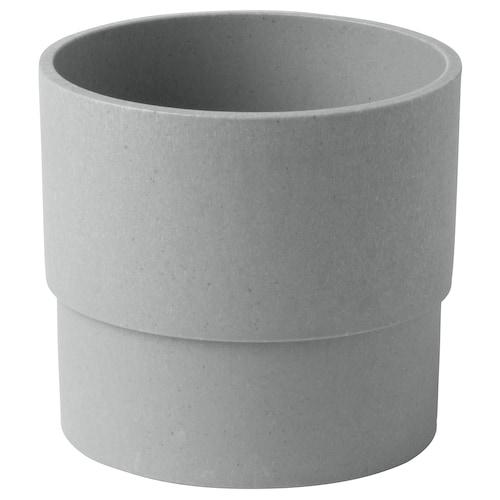 NYPON pasu dalam/luar  kelabu 10 cm 10 cm 9 cm 9 cm