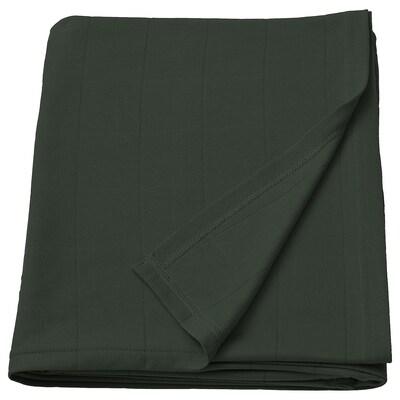 ODDHILD Selimut/alas, hijau pekat, 120x170 cm