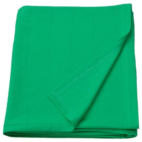 ODDHILD selimut/alas hijau terang 170 cm 120 cm
