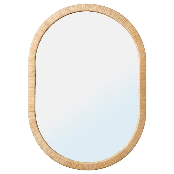 OPPHEM Cermin, rotan, 54x77 cm