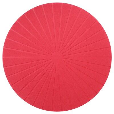 PANNÅ Alas pinggan, merah, 37 cm