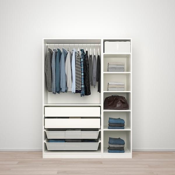 PAX / FARDAL/VIKEDAL Kombinasi almari pakaian, berkilat putih/kaca cermin, 150x60x201 cm