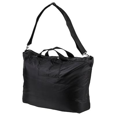 RÄCKLA Beg, boleh dilipat, hitam, 75x45 cm/55 l