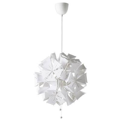 RAMSELE Lampu pendan, geometrik/putih, 43 cm
