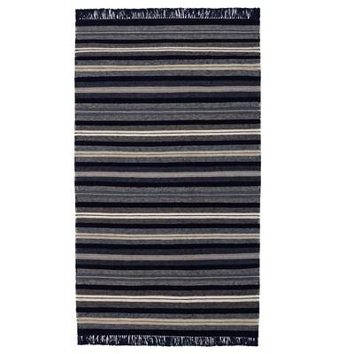 RÅVAROR Ambal, tenunan rata, biru gelap, 90x155 cm