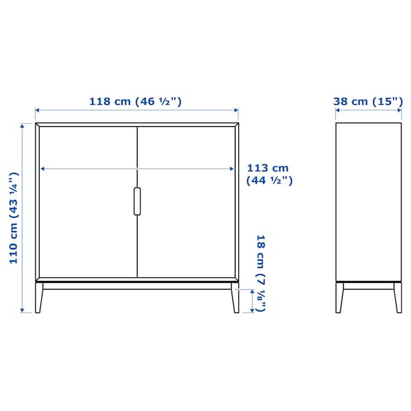 REGISSÖR Kabinet, putih, 118x110 cm