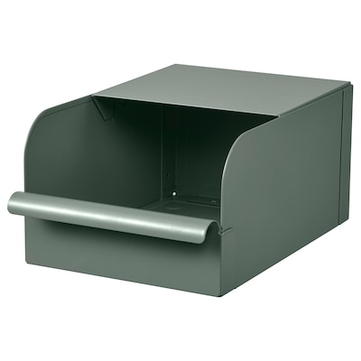 REJSA Kotak, kelabu-hijau/logam, 17.5x25.0x12.5 cm