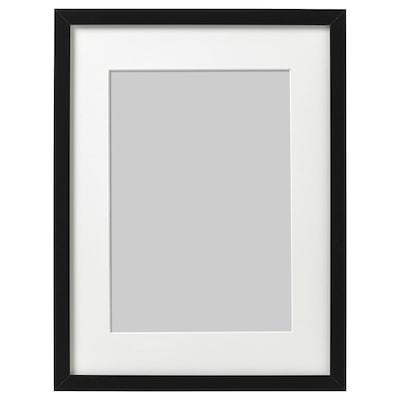RIBBA Bingkai, hitam, 30x40 cm