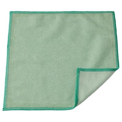 RINNIG Kain lap pinggan, hijau, 25x25 cm