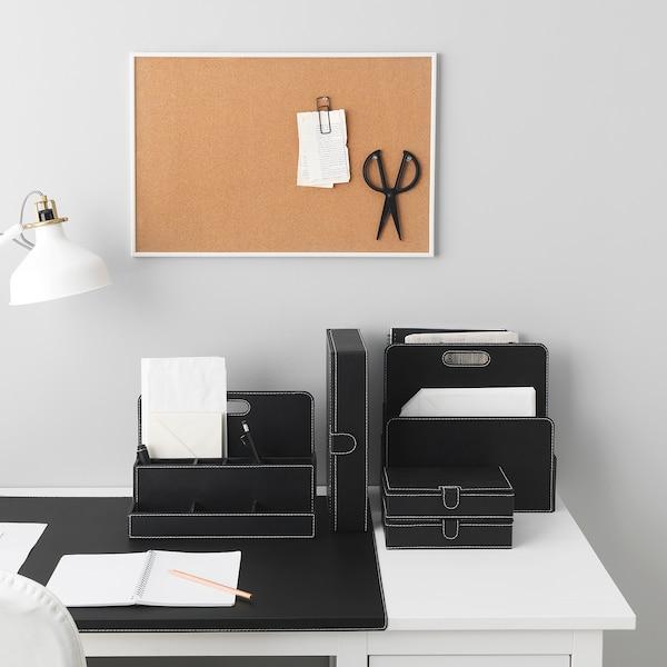 RISSLA Fail kotak, set 3 unit, hitam