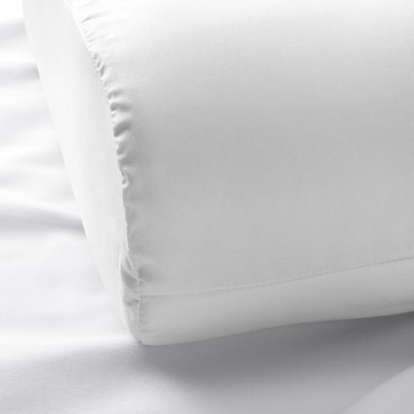 ROSENSKÄRM Sarung bantal utk bantal ergonomi, putih, 33x50 cm