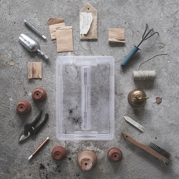 SAMLA Selitan untuk kotak 11/22 l, lut sinar, 37x25x12 cm