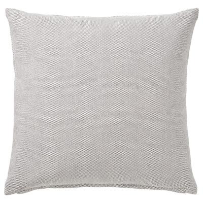 SANDTRAV Kusyen, kelabu/putih, 45x45 cm