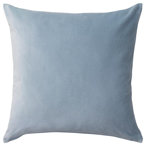 SANELA Sarung kusyen, biru muda, 50x50 cm
