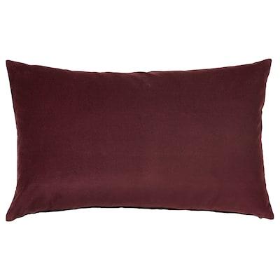 SANELA Sarung kusyen, merah gelap, 40x65 cm