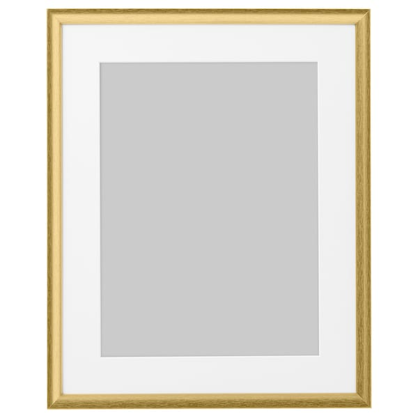 SILVERHÖJDEN Bingkai, warna emas, 40x50 cm