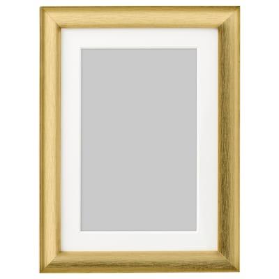 SILVERHÖJDEN Bingkai, warna emas, 13x18 cm