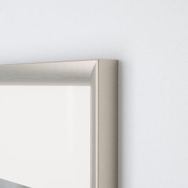 SILVERHÖJDEN Bingkai, warna perak, 40x50 cm