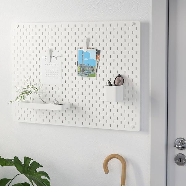 SKÅDIS Kombinasi bod penyepit, putih, 76x56 cm