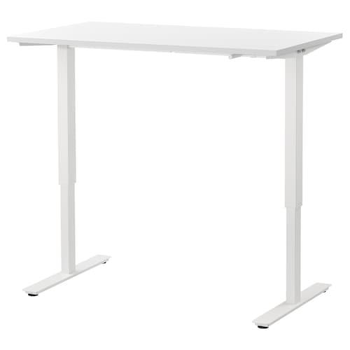 SKARSTA meja duduk/berdiri putih 120 cm 70 cm 70 cm 120 cm 50 kg