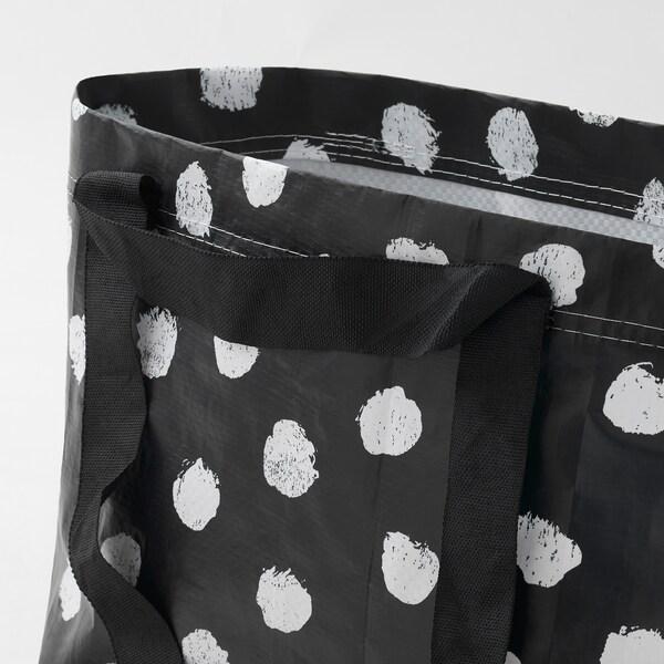 SKRUTTIG Beg, putih/hitam, 27x27 cm