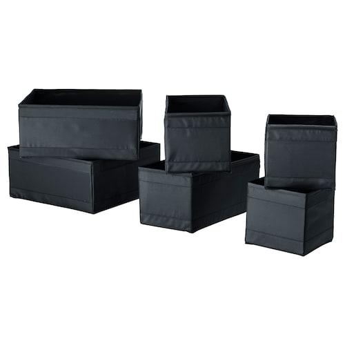 SKUBB kotak, set 6 unit hitam