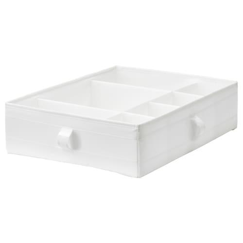 SKUBB kotak berkompartmen putih 44 cm 34 cm 11 cm
