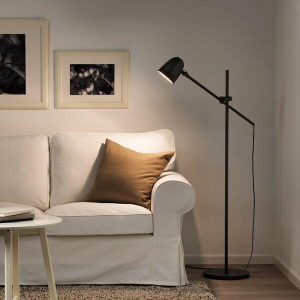 SKURUP Lampu lantai/bacaan, hitam