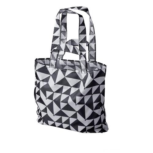 SKYNKE beg  hitam/putih 45 cm 36 cm