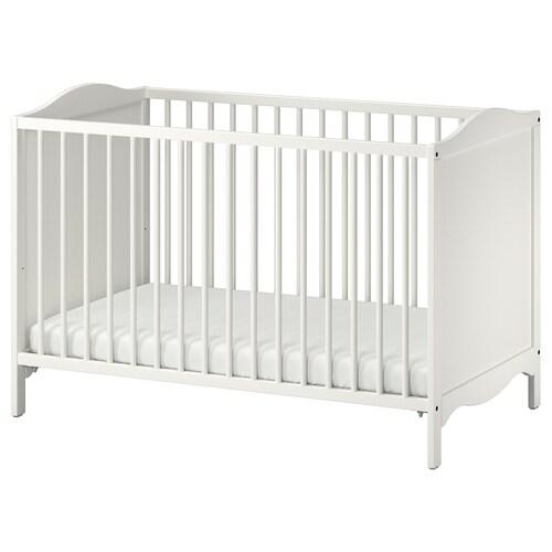 SMÅGÖRA katil bayi putih 124 cm 66 cm 79 cm 60 cm 120 cm 20 kg 55 cm