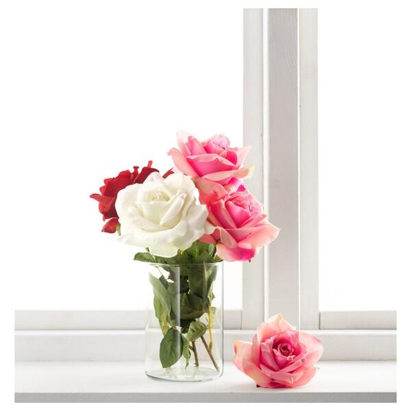 SMYCKA bunga tiruan Bunga ros/merah jambu 75 cm