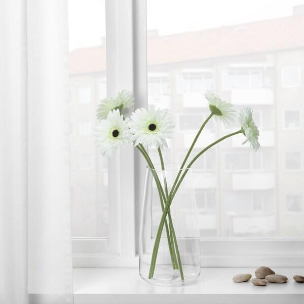 SMYCKA Bunga tiruan, Gerbera/putih, 50 cm