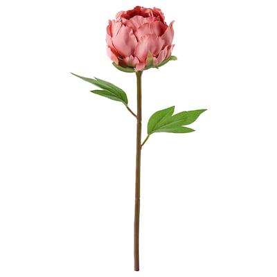 SMYCKA Bunga tiruan, Paeonia/merah jambu gelap, 30 cm