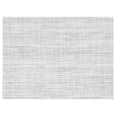 SNOBBIG Alas pinggan, putih/hitam, 45x33 cm