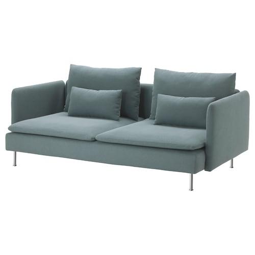 SÖDERHAMN sofa 3 tempat duduk Finnsta firus 83 cm 69 cm 198 cm 99 cm 14 cm 6 cm 186 cm 70 cm 39 cm