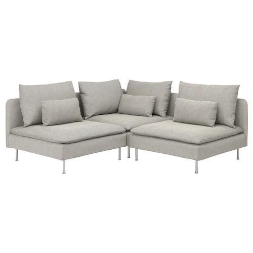 SÖDERHAMN sofa penjuru 3 tempat duduk