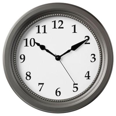SÖNDRUM Jam dinding, kelabu, 35 cm