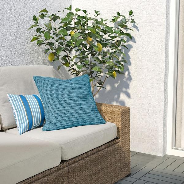 SÖTHOLMEN Sarung kusyen, dalam/luar, biru muda, 50x50 cm