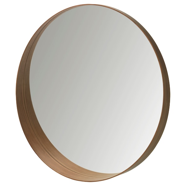 STOCKHOLM Cermin, venir kayu walnut, 60 cm