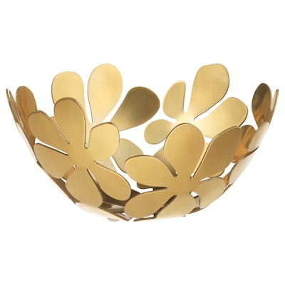 STOCKHOLM Mangkuk, warna emas, 20 cm