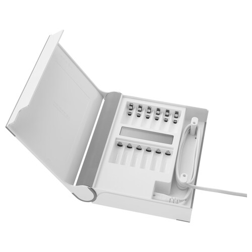 STORHÖGEN pengecas bateri dengan storan putih 22 cm 18 cm 4 cm 1.5 m