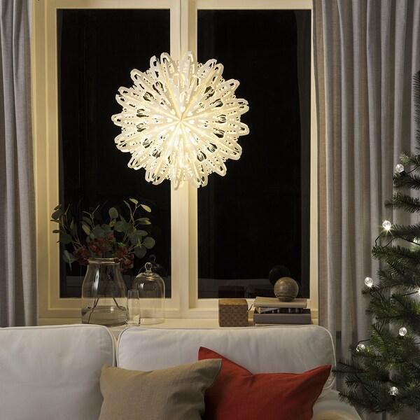 STRÅLA Terendak lampu, emping salji, 56 cm