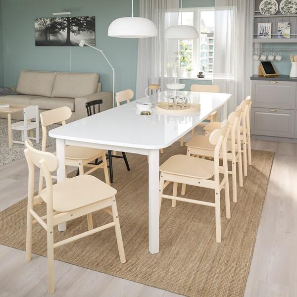 STRANDTORP Meja boleh dipanjangkan, putih, 150/205/260x95 cm