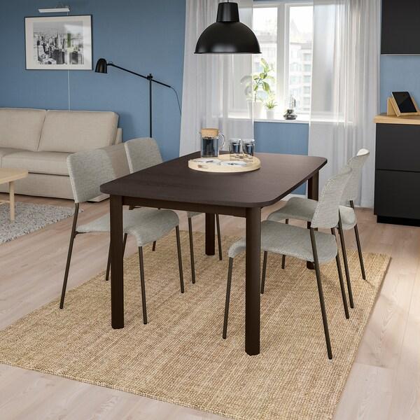 STRANDTORP / UDMUND Meja dan 4 kerusi