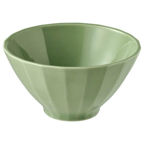 STRIMMIG mangkuk tembikar batu hijau 6 cm 11 cm