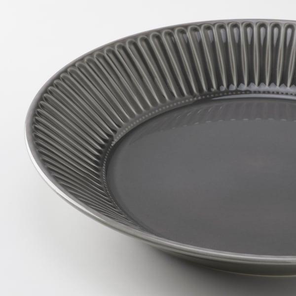 STRIMMIG Pinggan hidang, tembikar batu kelabu, 29 cm