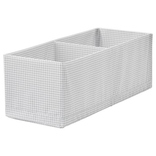 STUK kotak berkompartmen putih/kelabu 20 cm 51 cm 18 cm