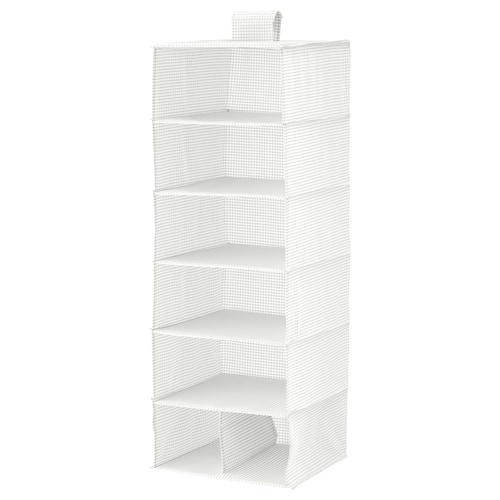 STUK storan 7 kompartmen putih/kelabu 30 cm 30 cm 90 cm