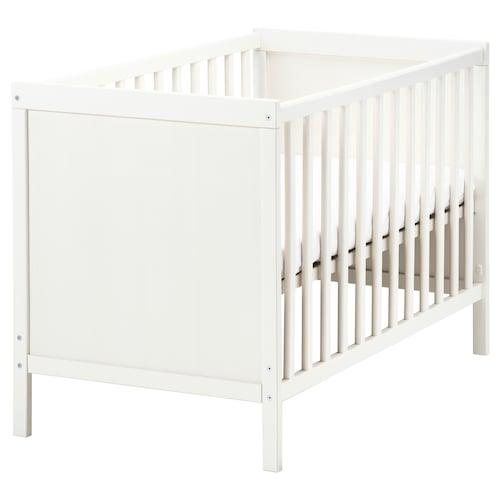 SUNDVIK katil bayi putih 125 cm 67 cm 86 cm 60 cm 120 cm 20 kg